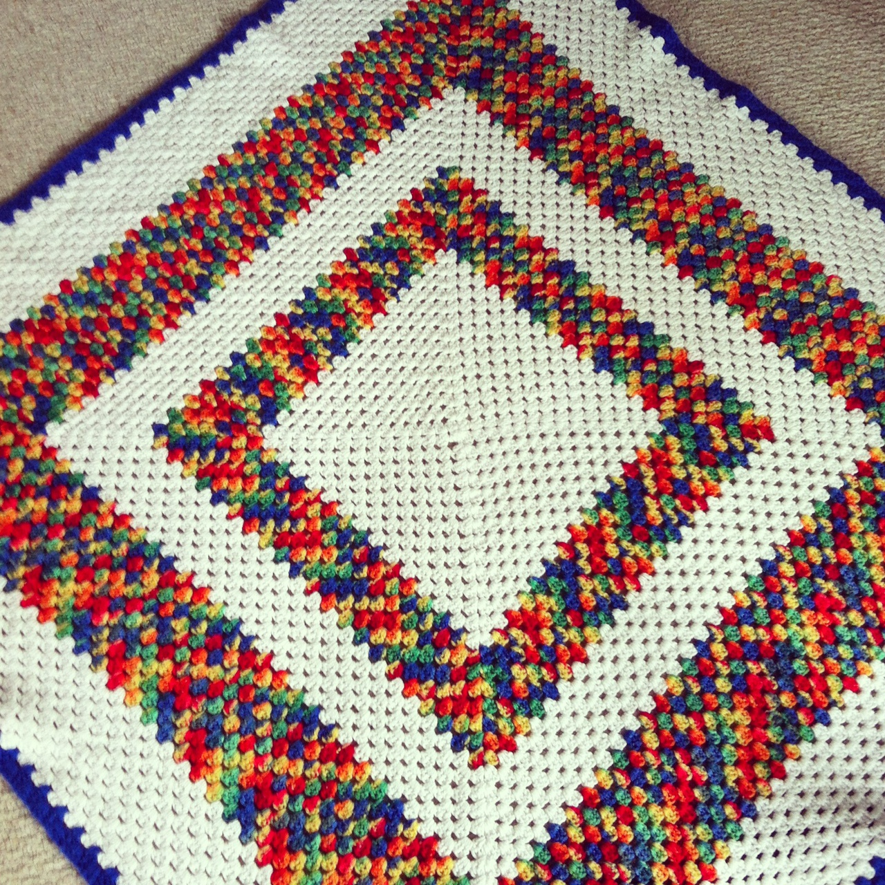 Very Hungry Caterpillar Colors Granny Square Afghan