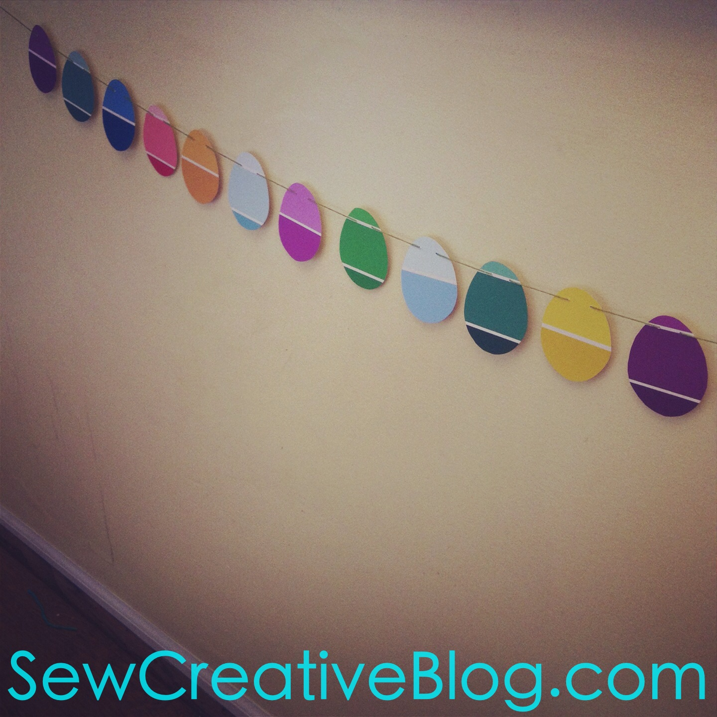 Paint Chip Easter Egg Garland Tutorial 6