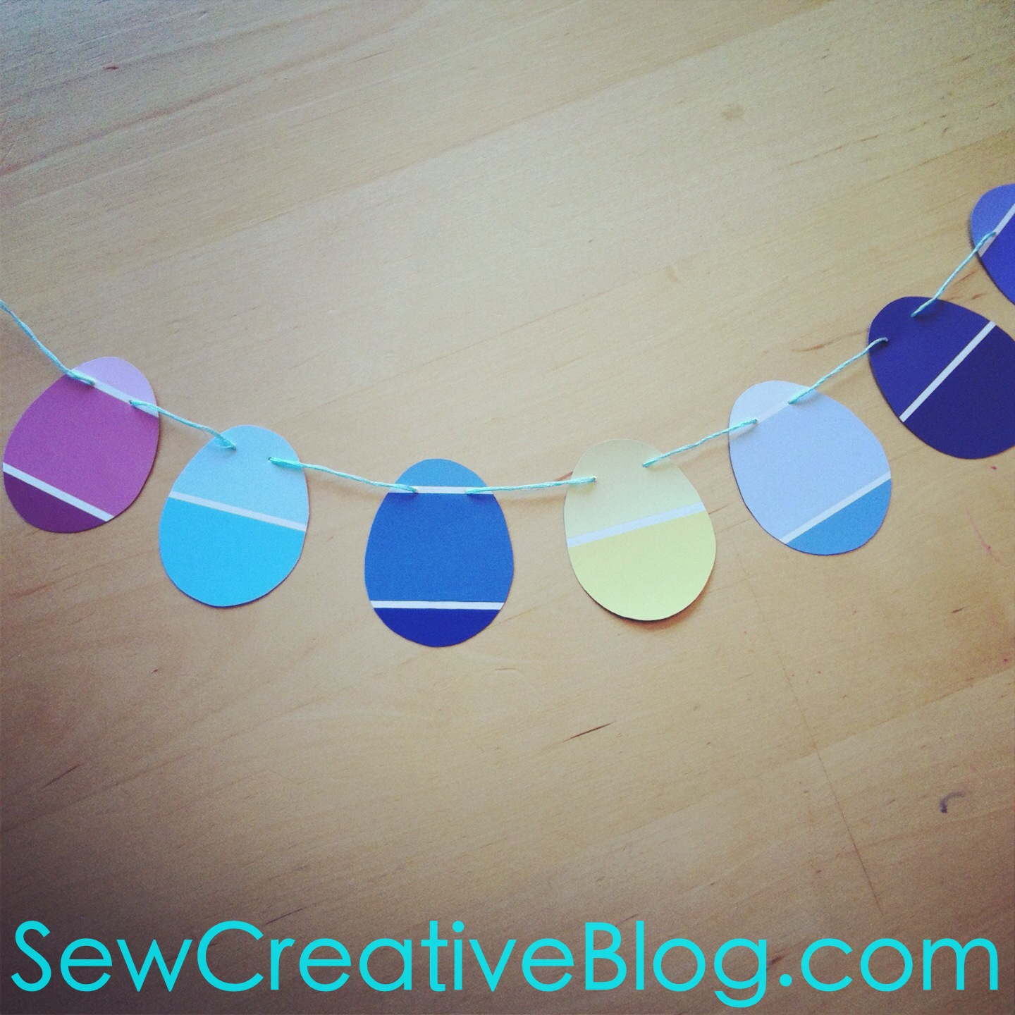 Paint Chip Easter Egg Garland Tutorial 7