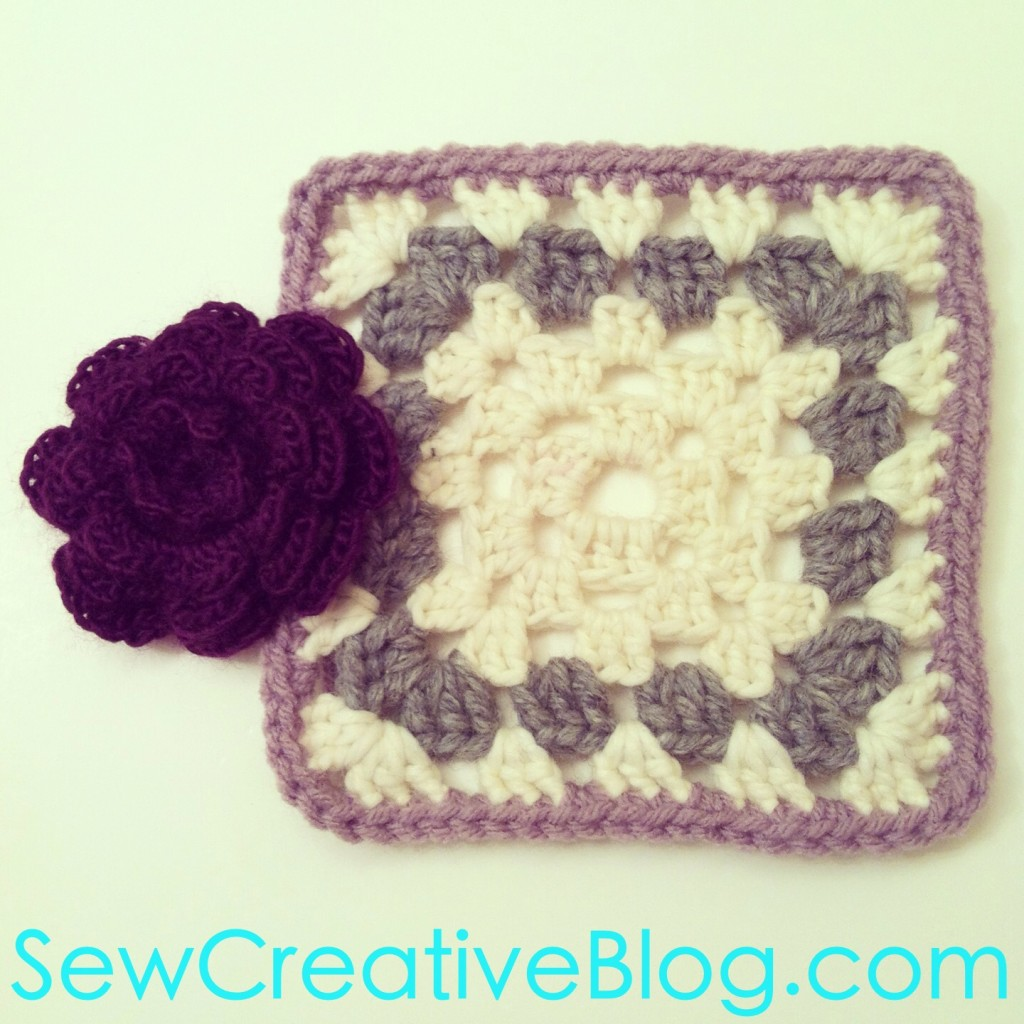Crochet Flower and Granny Square on Sew Creative Blog