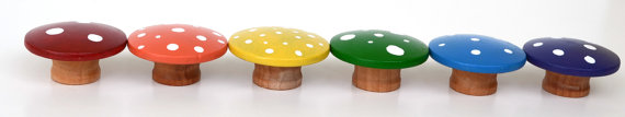 Wooden Mushrooms From Bright Life Toys