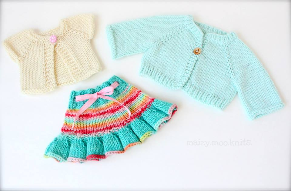 Maizy Moo Knit Doll Clothes