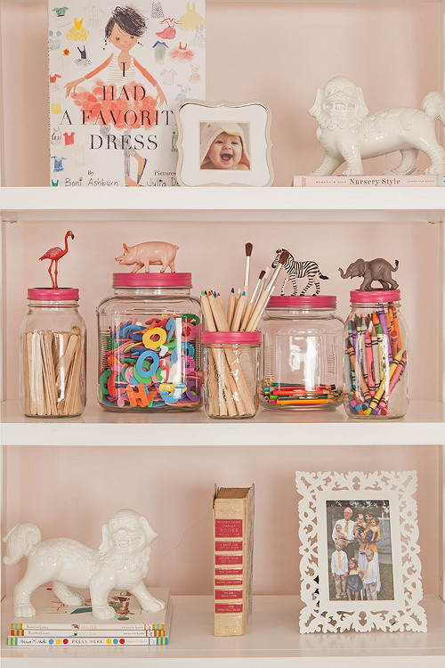 Animal Topped Mason Jars for Dad's miscellaneous doodads in the garage Father's Day Kids Craft Idea