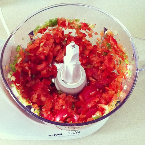Sew Creative Blog's Fresh Fast and Easy Salsa Recipe Step 3