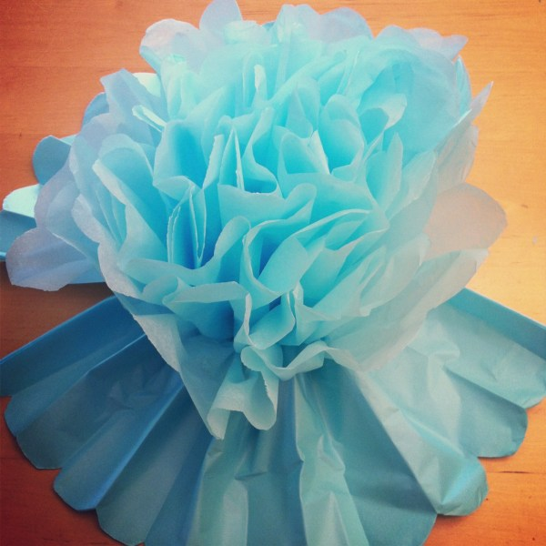 Tutorial  How To Make DIY Giant Tissue Paper Flowers   Hello     DIY Giant Tissue Paper Flowers Tutorial 2 for  1 00 Make Beautiful Birthday  Party Decorations Step 8