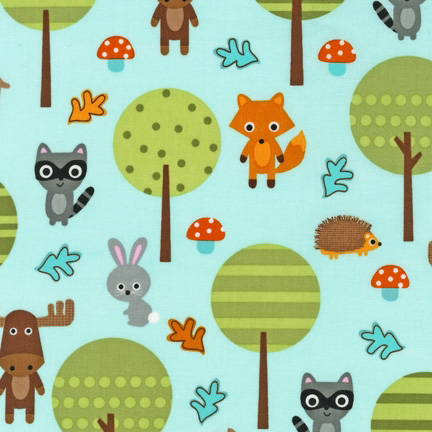 Ann Kelle Nature Woodland Pals fabric for Robert Kaufman