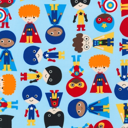 Ann Kelle Super Kids Adventure Boys fabric for Robert Kaufman