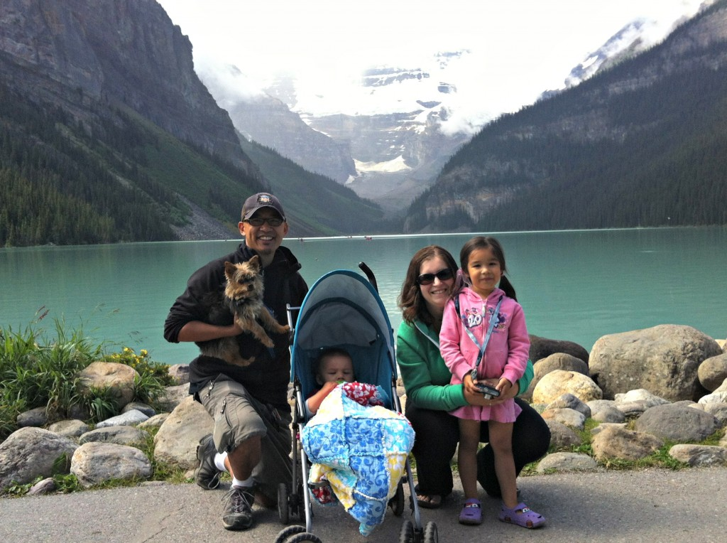 Sew Creative Family Roadtrip Vancouver to Calgary Lake Louise Family Photo 2
