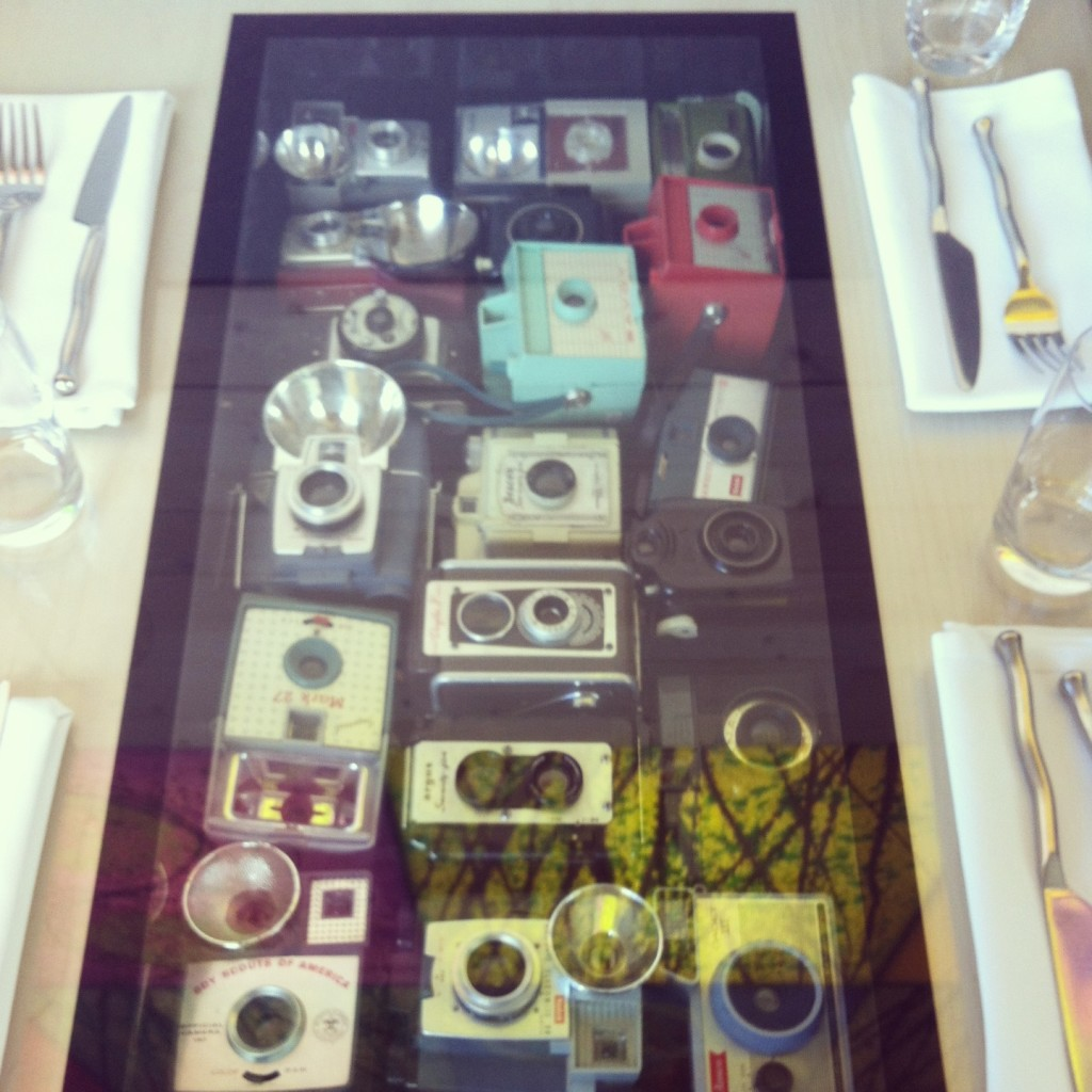 Photo of Vintage Cameras from Dale Chihulys Restaurant at The Glass House