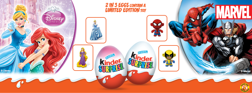 Disney Princess and Marvel Superhero Kinder Surprises