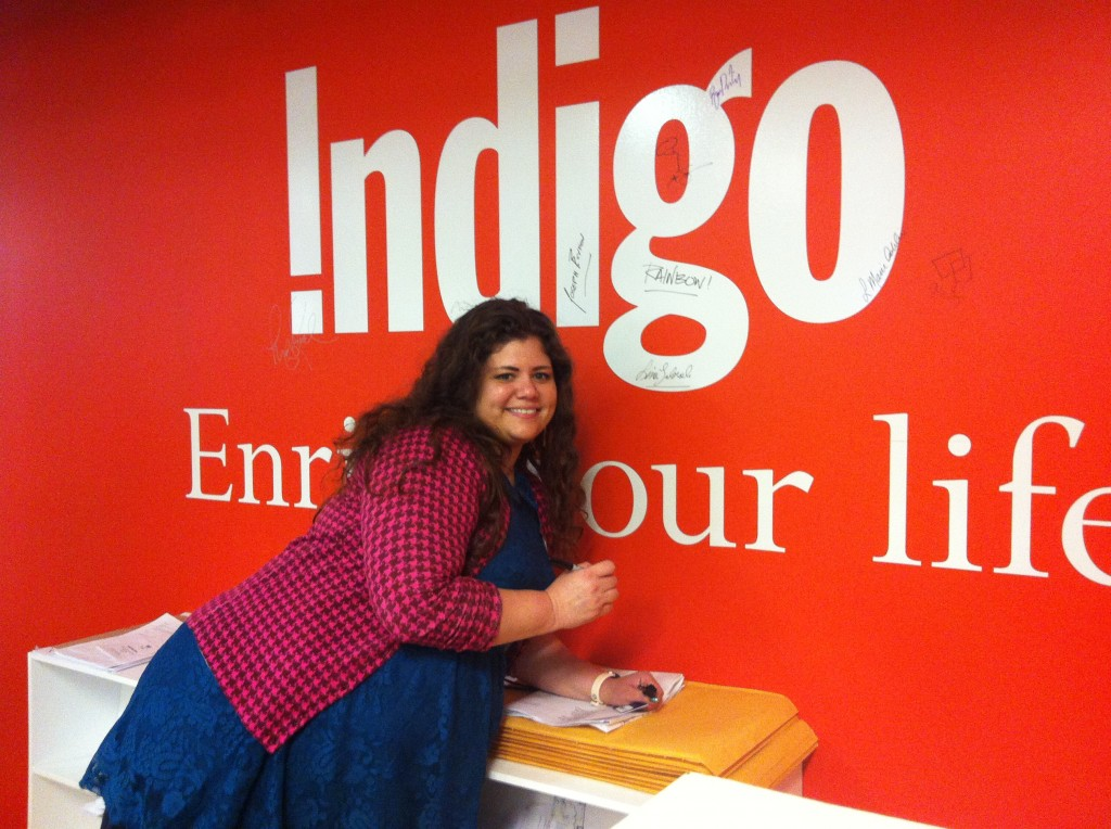 Indigo author wall