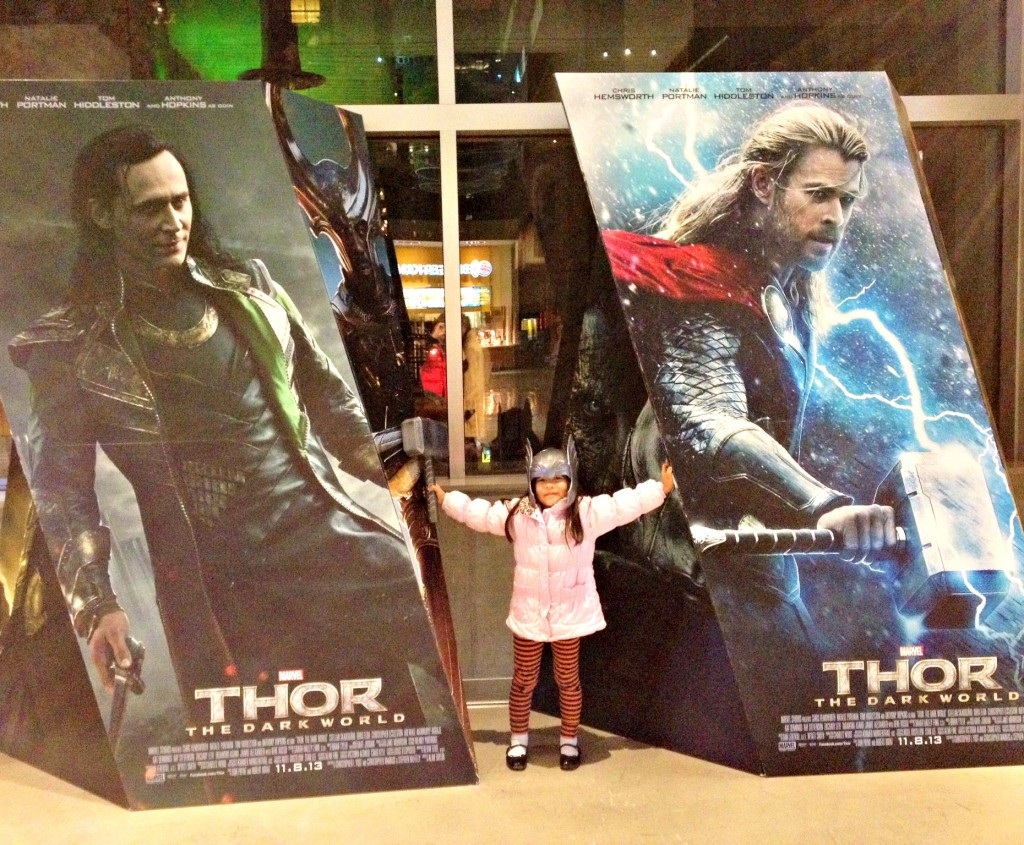 Daddy Daughter Date Night to see Thor 2