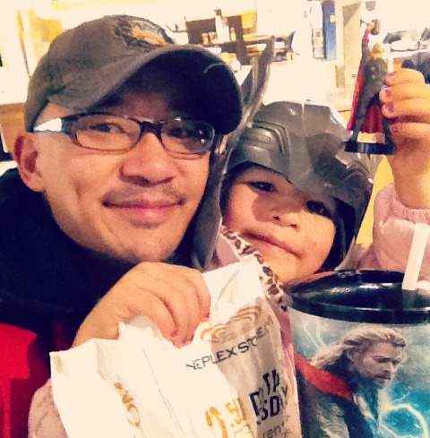 Daddy Daughter Date Night to see Thor 4