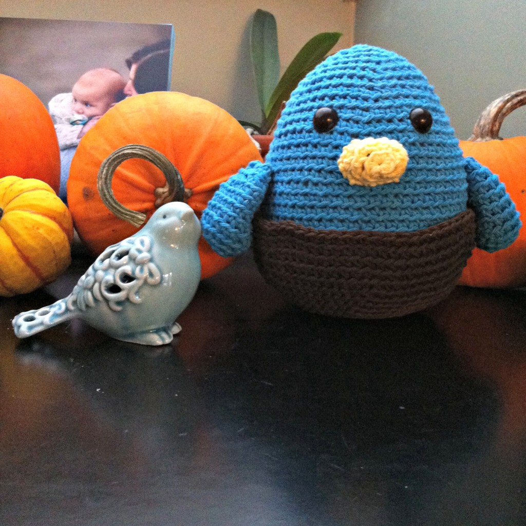 Sew Creative Blog's Blue Bird in Nest Amigurumi 2