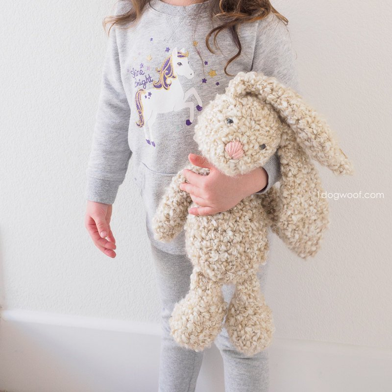 Adorable Spring and Easter Crochet Patterns Perfect For Easter Baskets: Classic Stuffed Bunny Crochet Pattern from 1 Dog Woof