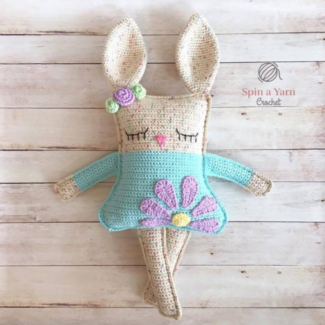 Adorable Spring and Easter Crochet Patterns Perfect For Easter Baskets:Ragdoll Bunny Crochet Pattern from Spin a Yarn Studio