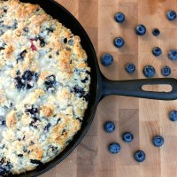 Cast Iron Skillet Lemon Blueberry Scone Recipe With Lemon Glaze