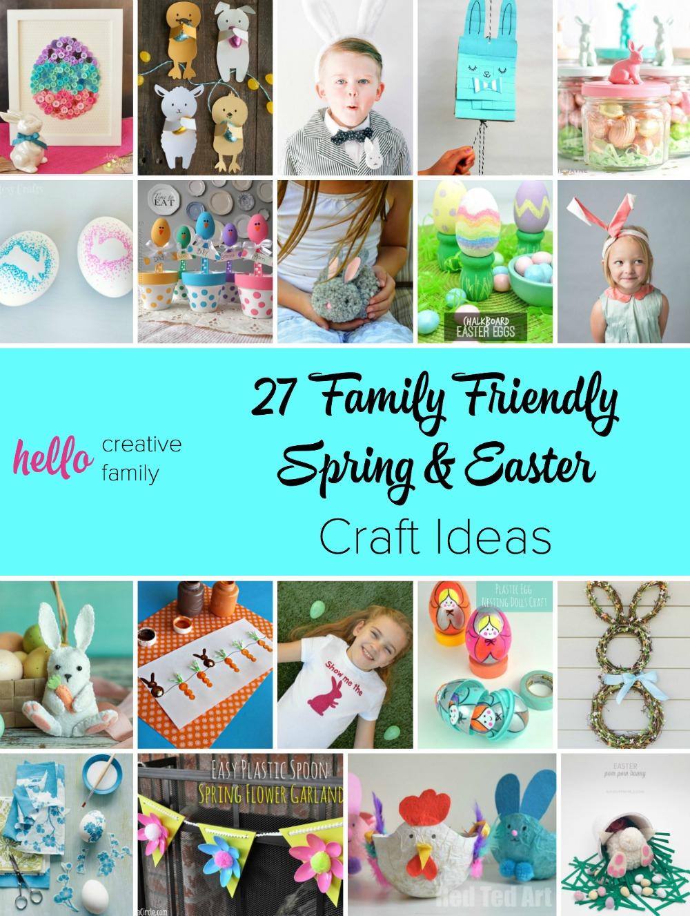 So many adorable spring and Easter craft ideas here! I love that they are family friendly and that the kids can help with these Easter crafts! My kiddo would love number 26!