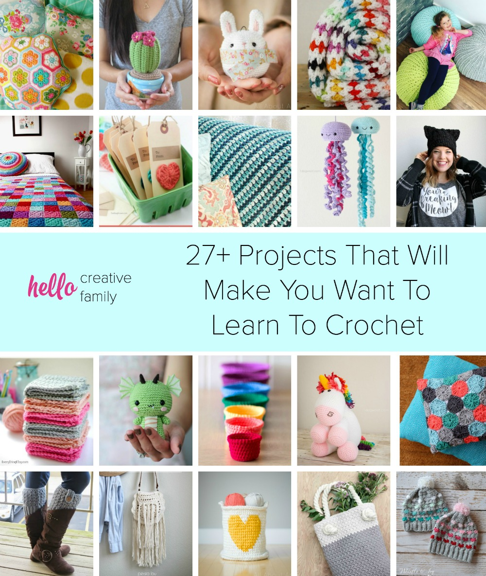 Get ready for some serious project inspiration! Whether you have been crocheting for years or want to learn to crochet, these 27+ projects will make you pick up your crochet hook!