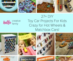 27 Diy Toy Car Projects For Kids Crazy For Hot Wheels And Matchbox Cars Hello Creative Family