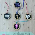 Diy Upcycled Wood Christmas Ornaments Hello Creative Family