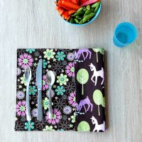 Easy 10 Minute Sewing Project- How To Sew Reversible Placemats Tutorial
