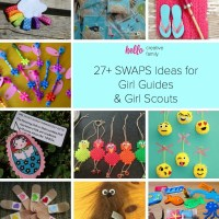 27+ SWAPS Ideas for Girl Guides and Girl Scouts