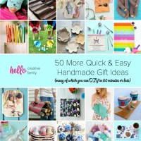 50 More Quick and Easy Handmade Gift Ideas (many of which you can DIY in 60 minutes or less)