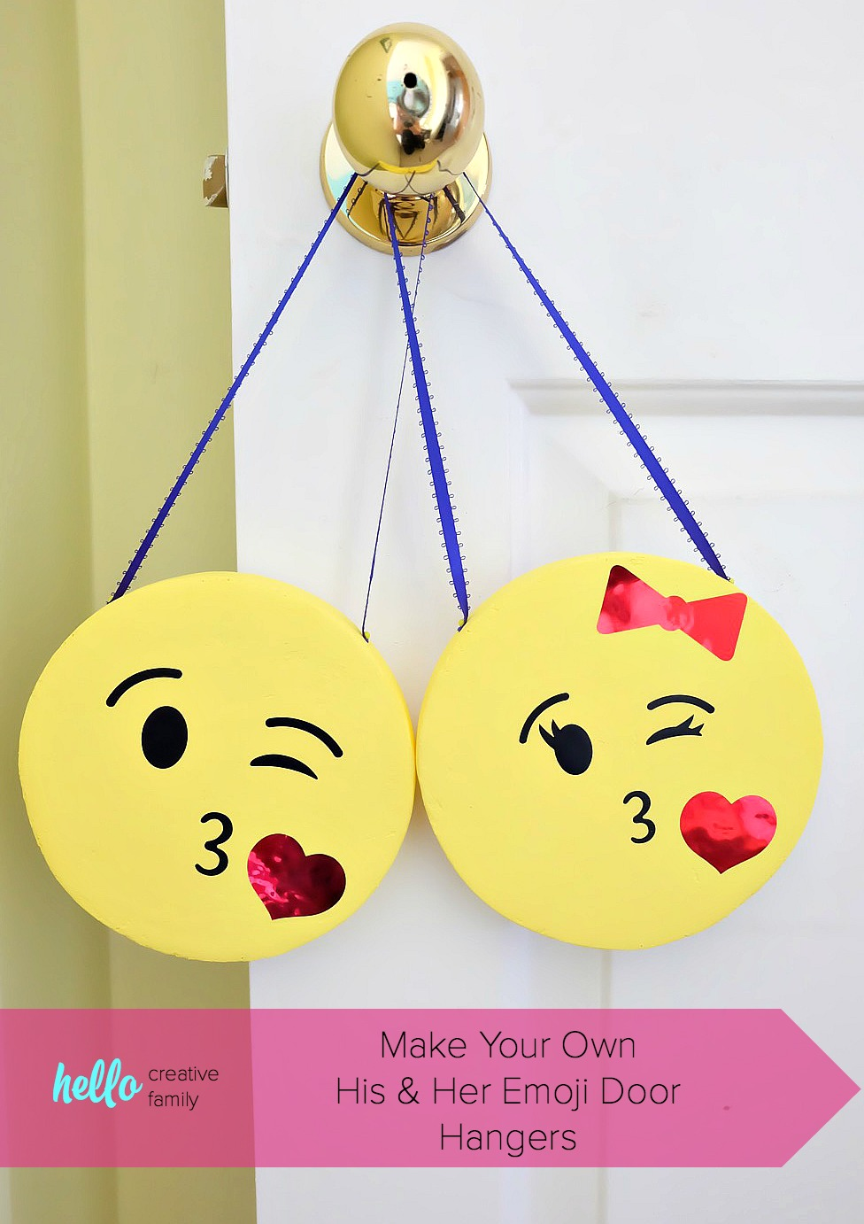 There are a few projects in here that may even inspire you, too. His And Her Diy Emoji Door Hangers Hello Creative Family