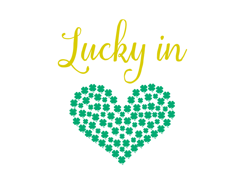 Hello Creative Family Lucky In Love SVG FIle for Personal Use Only.