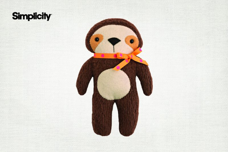 Simplicity Sloth Pattern- Intermediate Project 1-2 hours