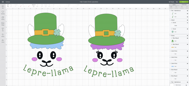 Love llamas? We're making you pinch proof with the CUTEST DIY St Patricks Day Shirt ever! Its a Lepre-llama and you can make it with your Cricut! Leprechauns have never looked cuter than with this llama twist! #Cricut #CricutMade #DIY #Llama #StPatricksDay #Sponsored