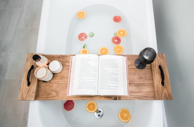 Shop Handmade Mother's Day Gift Ideas For Mom: Bathtub Caddy from Timber Grove Studios