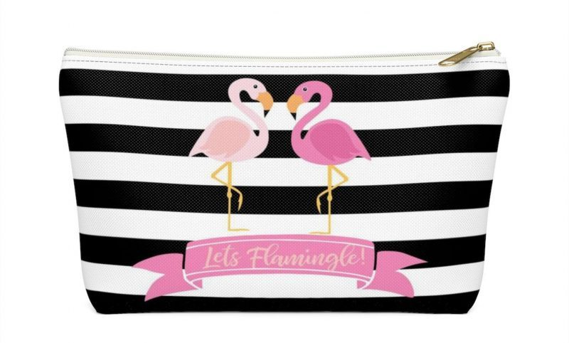 Shop Handmade Mother's Day Gift Ideas For Mom: Flamingo Zippered Bag from Fame of the Name Kids