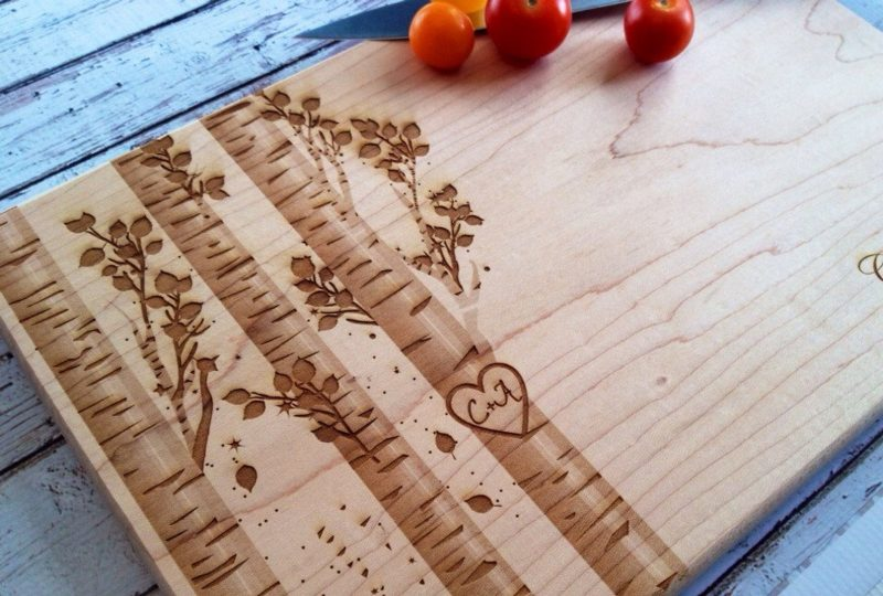 Shop Handmade Mother's Day Gift Ideas For Mom: Made to Order Engraved Cutting Board from Sweet Pine Hills
