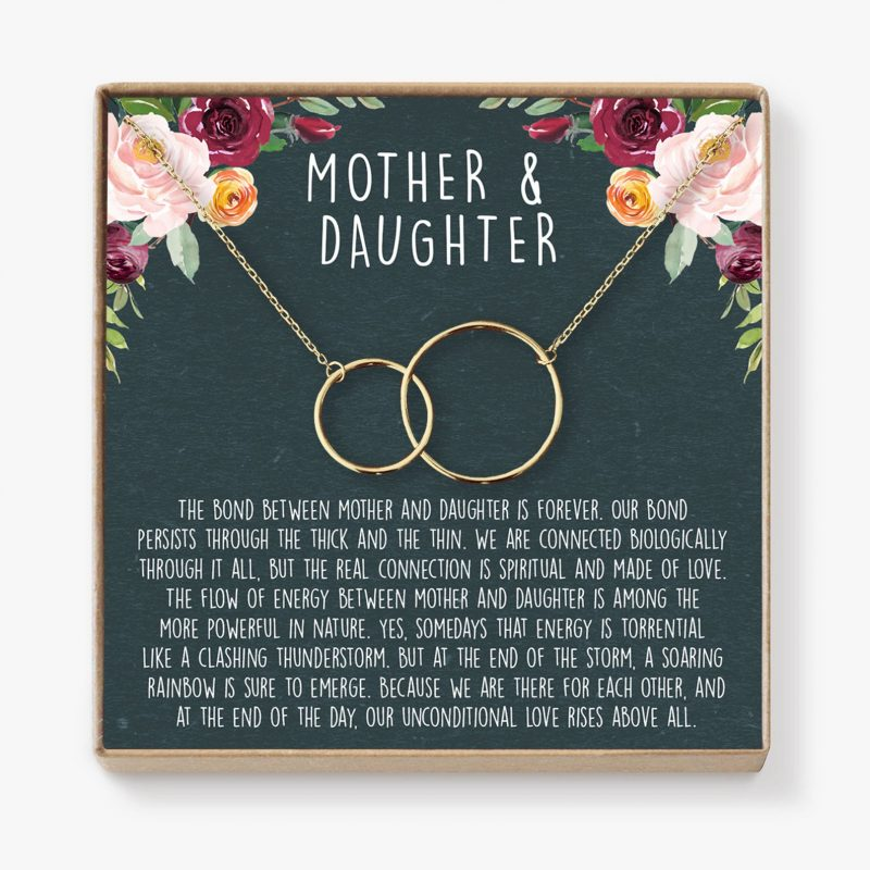 Shop Handmade Mother's Day Gift Ideas For Mom: Mother Daughter Necklace from Dear Ava Jewelry