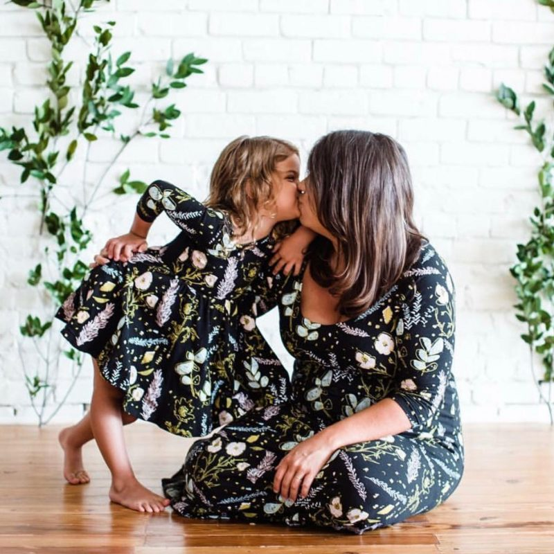 Shop Handmade Mother's Day Gift Ideas For Mom: Mummy and Me Floral Twirling Dress from Thief And Bandit Kids