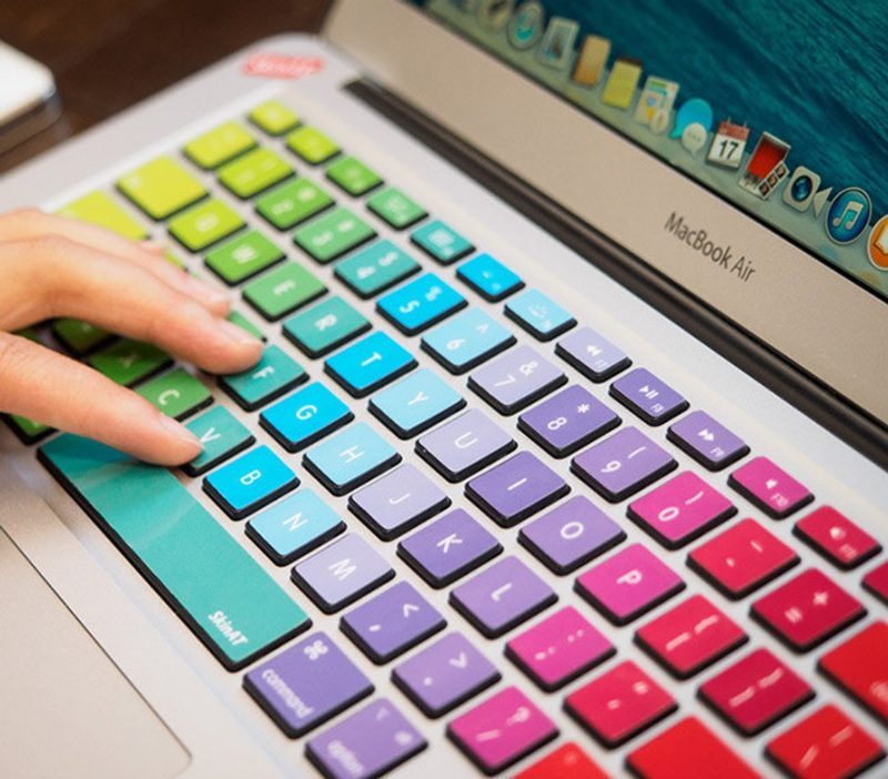 Shop Handmade Mother's Day Gift Ideas For Mom: Rainbow Laptop Keyboard Decals from Mixed Decal