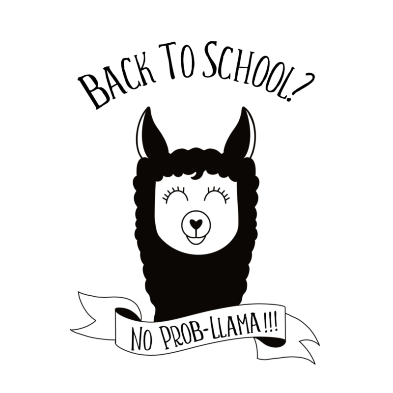 "Whether you are looking for a DIY first day of school outfit, or an awesome handmade teacher gift-- we've got you covered!  We're sharing 16 free back to school svgs including our own ""Back to school? No Prob-llama"" cut file!  So pull out those Cricuts and Silhouettes and craft up an easy project! #Cricut #Silhouette #BackToSchool #Teacher #CutFile #FreeSVG #SVG"