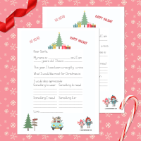Free Santa Letter Printable Template + 19 Holiday Printables