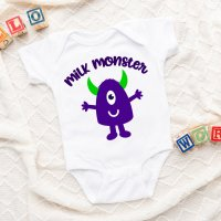 13 Free Baby Onesie SVGs Including Milk Monster Cut File