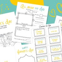 Free Father's Day Printable- Card, Coupons and All About My Dad Questionnaire