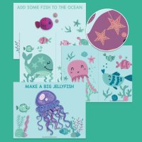 8 Printable Crafts For Kids Including Ocean Sewing Cards
