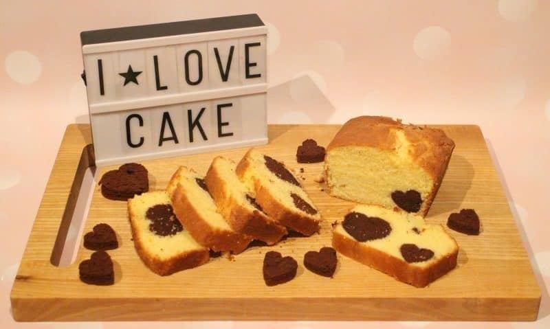 loaf cake with secret image