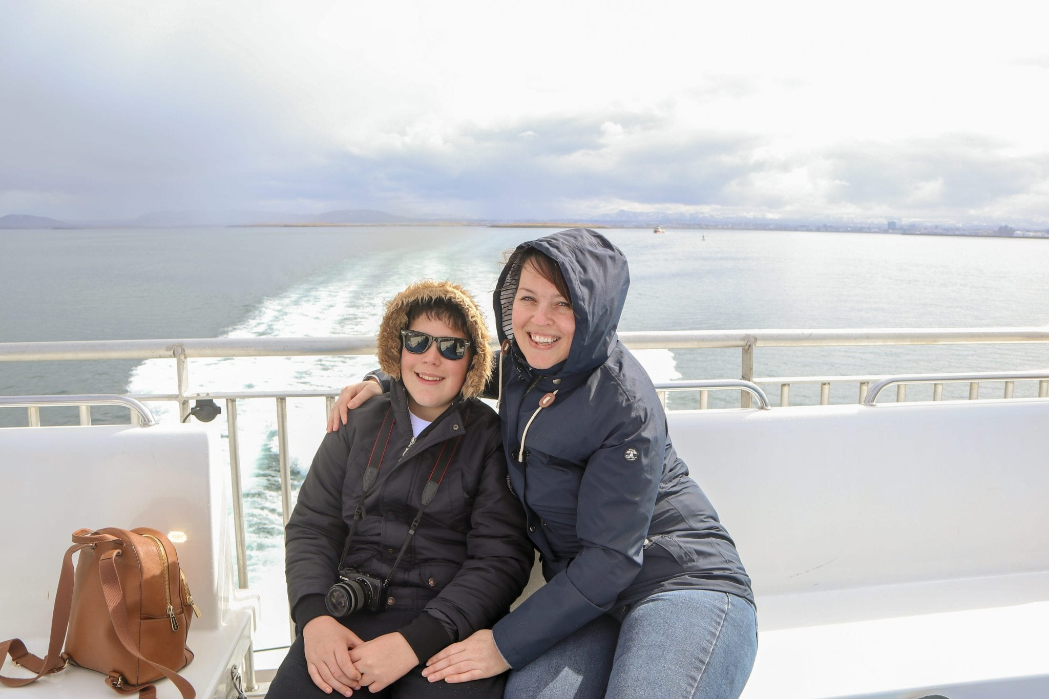 They also explained that although we are obviously there to see whales, to have a minimal impact on the whale's habitat they wouldn't be using any equipment to find them. They rely purely on eyesight, binoculars and in-depth knowledge of the whales' habits. We enjoyed views of distant, snowy mountains capped with low clouds and surrounded with lush, green rolling hills. Iceland is beautiful from every angle and I clearly remember thinking'this is just perfect'.