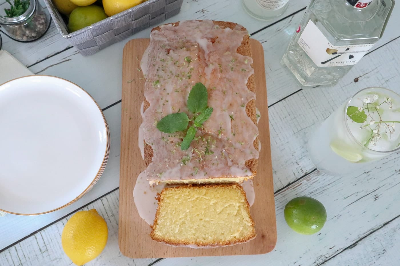 Gin and Yuzu Tonic Drizzle Cake