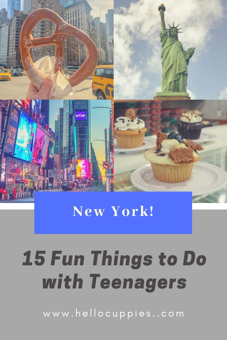 Things to do with Teenagers in New York pin.