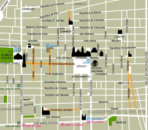mapa_centro_historico_mexico