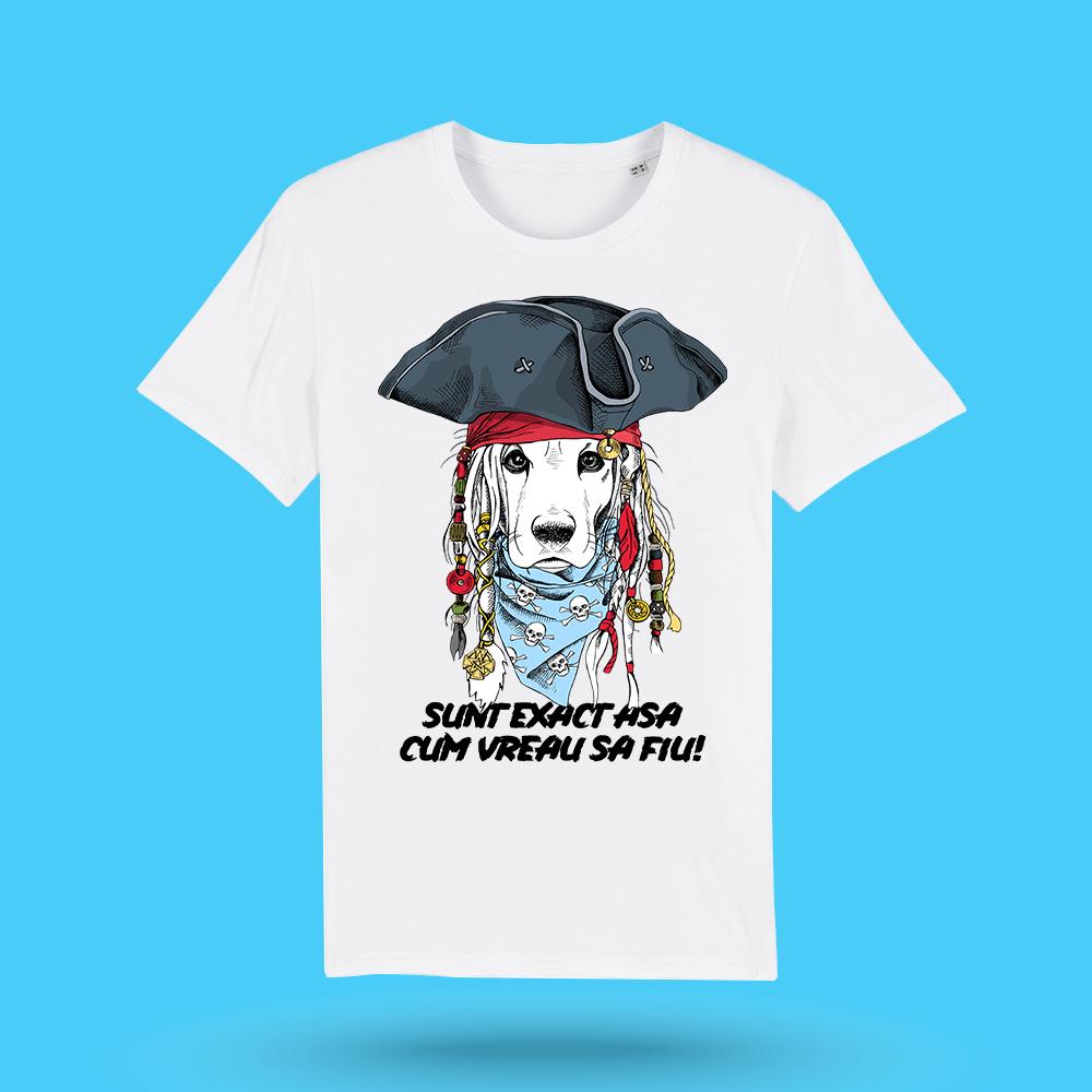 "Tricou alb barbati - ""Pirat"""