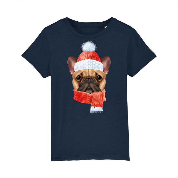 tricou-personalizat-bleumarin-copii-Craciun-winter-bulldog